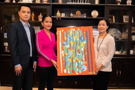 TrueMoney takes delivery of 'Special' artwork in recognition for charitable donations